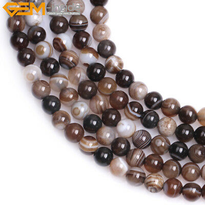 """8MM PARTY MIXED AGATE GEMSTONE RAINBOW STRIPED MATTE ROUND 8MM LOOSE BEADS 15/"""""""