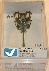 Viessmann-6382-Park-Lights-With-5-Lanterns-12-to-16-Volts-1-87-HO-00-Scale