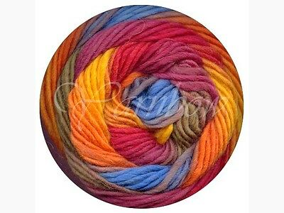 Viking of Norway ::Odin #853:: 100%Superwash wool Fuchsia-Yellow-Orange-Blue-Nut
