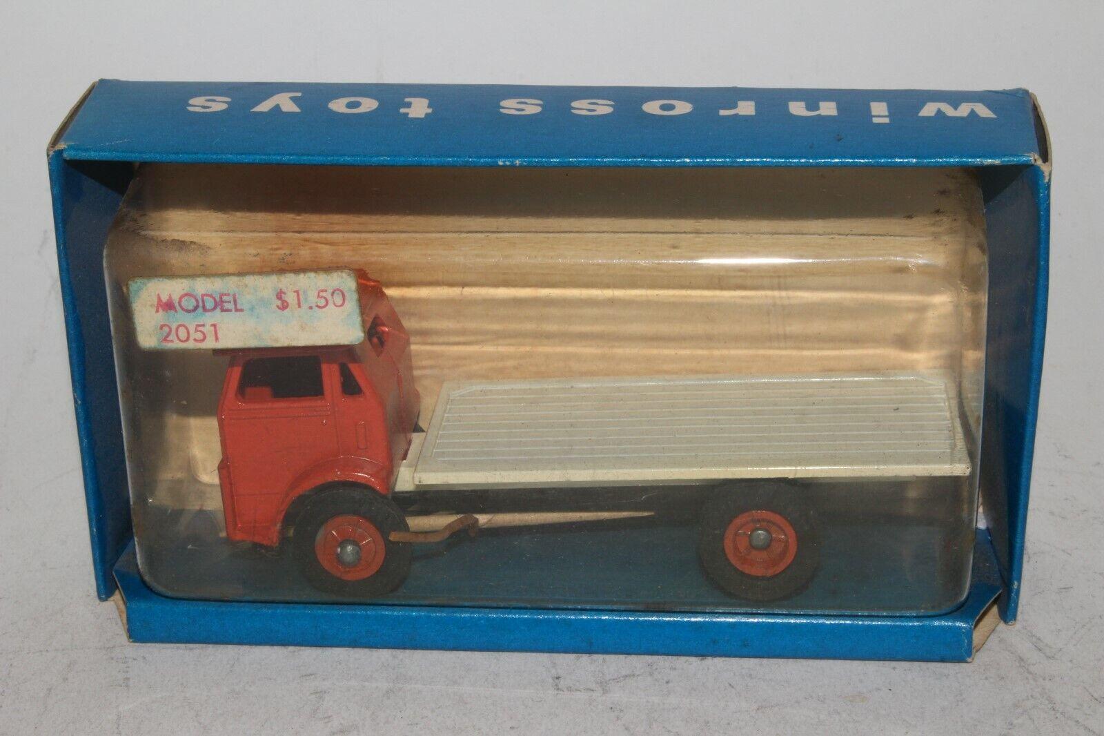 Winross década de 1960 blancoo camión Cabover plano Camión, buen En Caja