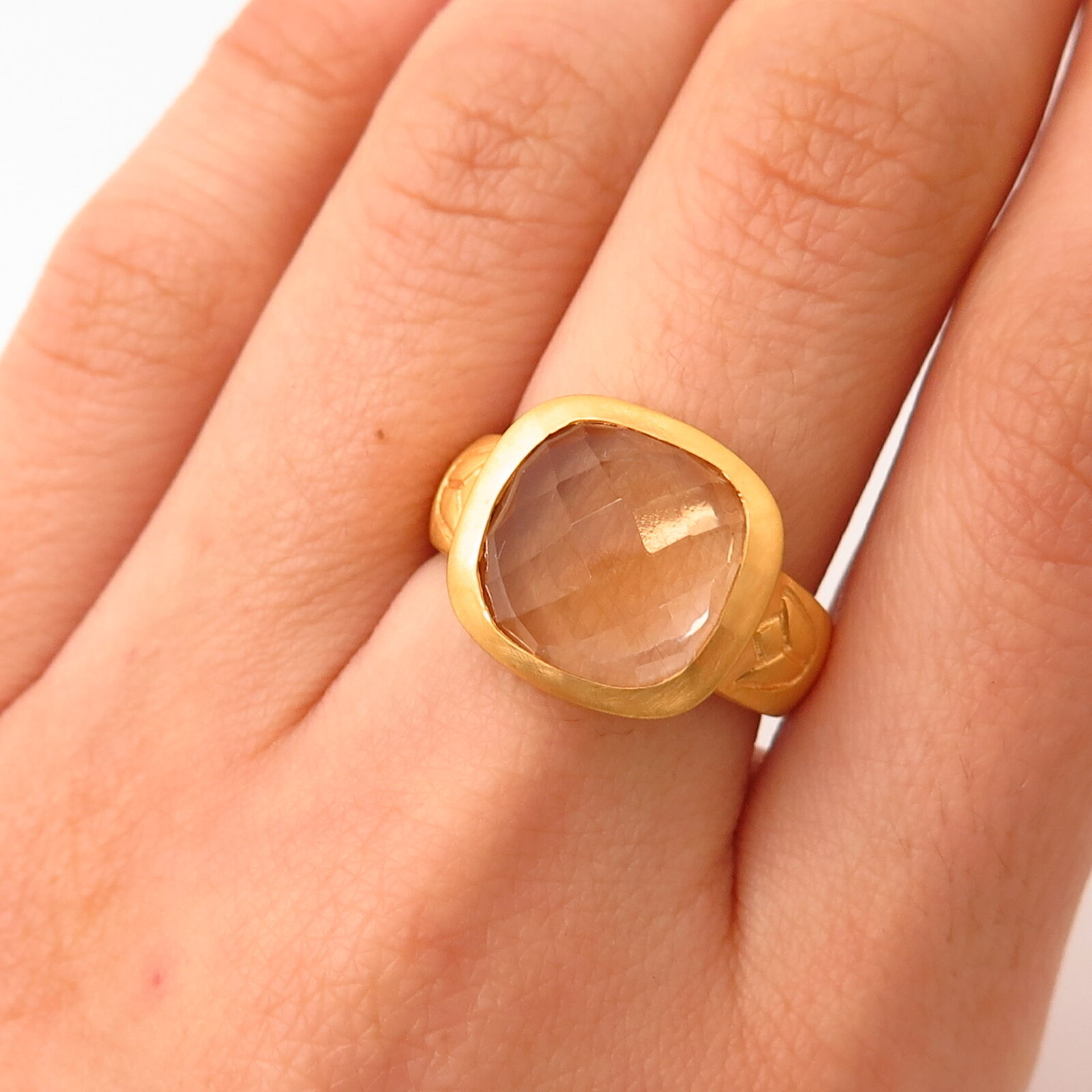 Satya Jewelry Real Clear Quartz Ring Size 7 1 4