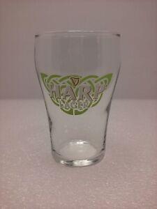 """Guinness Harp Lager 5 Oz Beer Glass 3.75"""" Tall Promo Barware Dublin Ireland"""