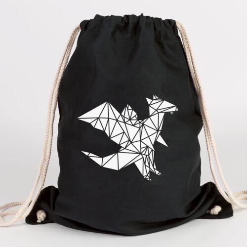 "JUNIWORDS Turnbeutel /""Origami Drache/"" verschiedene Farben Geschenk Tasche"