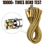 miniature 4 - 3X 10Ft Micro USB Fast Charger Cable Heavy Duty Charging Cord For Android Phone