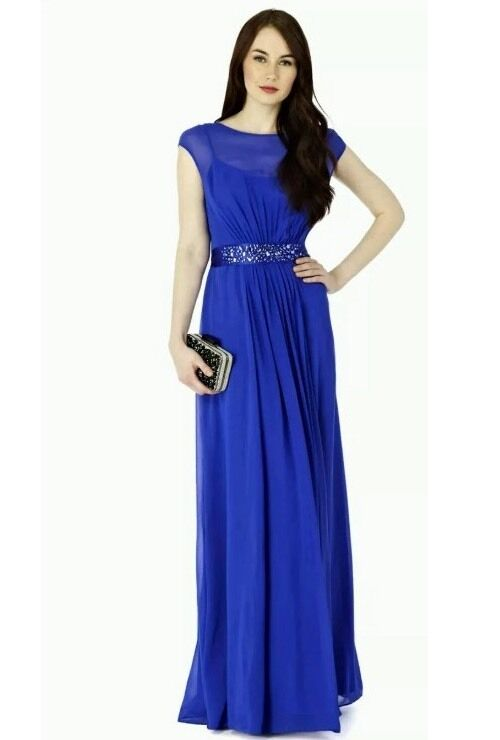 BNWTCOAST Größe 6 LORI LEE COBALT Blau  MAXI BRIDESMAIDS CRUISE DRESS XS New