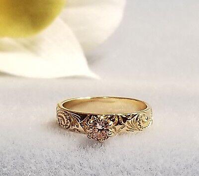 14kt Gold Plated Hawaiian Heirloom Band Ring Size 8