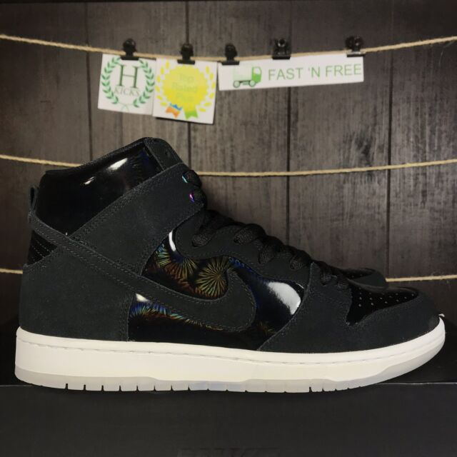 buy popular 16422 d0300 Nike SB Zoom Dunk High Pro Iridescent Black White Clear 854851-001 Size 11