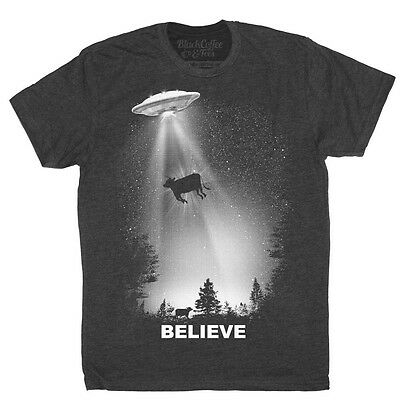 X-Files TV Show I WANT TO BELIEVE POSTER Licensed Adult T-Shirt All Sizes