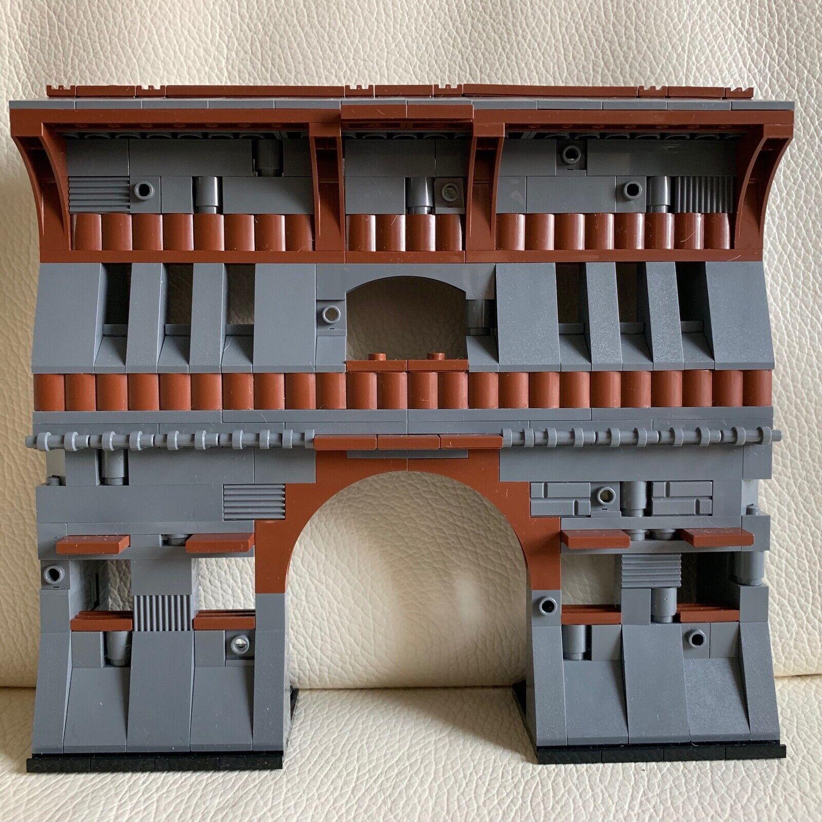 LEGO original parts - OLD CASTLE RUINS dark grau building WALL my design 92