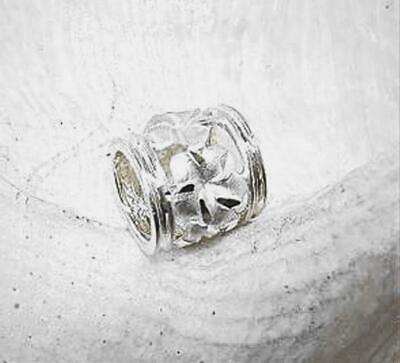 9mm Hawaiian 14k Rose Gold Diamond-Cut Matted Plumeria Flower Pendant