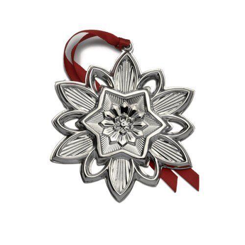 BNIB 2008 GORHAM Sterling Silver Christmas Snowflake Ornament Pendant Medallion