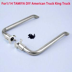 Stainless-Steel-LESU-1-14-RC-Model-TAMIYA-American-King-Truck-Parts-Exhaust-Pipe