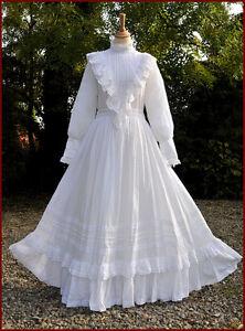 Vintage Laura Ashley Wedding Dress Edwardian Style Immaculate   eBay