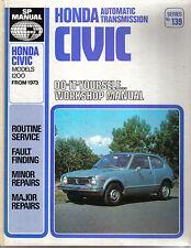Honda Civic 1200 Automatic Transmisssion 1973 onward DIY SP Workshop Manual