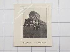 1912 Sardegna , Macomer , un Nuraghe Megalitico - Sardaigne / Sardinia