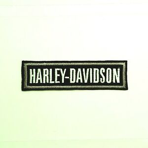 SMALL-Harley-Davidson-SILVER-BADGE-Patch