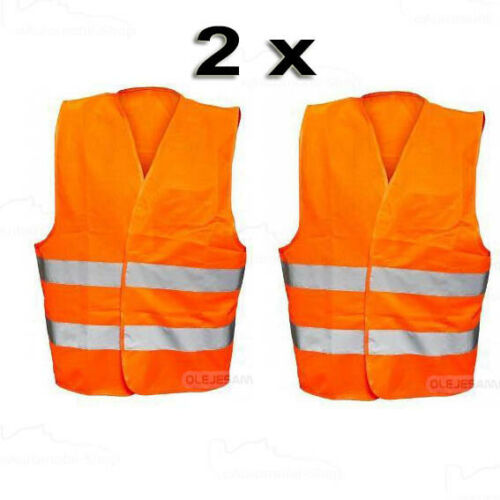 2 x Warnweste Sicherheitsweste Pannenweste Norm EU 471 Unfall Weste Auto PKW ORA