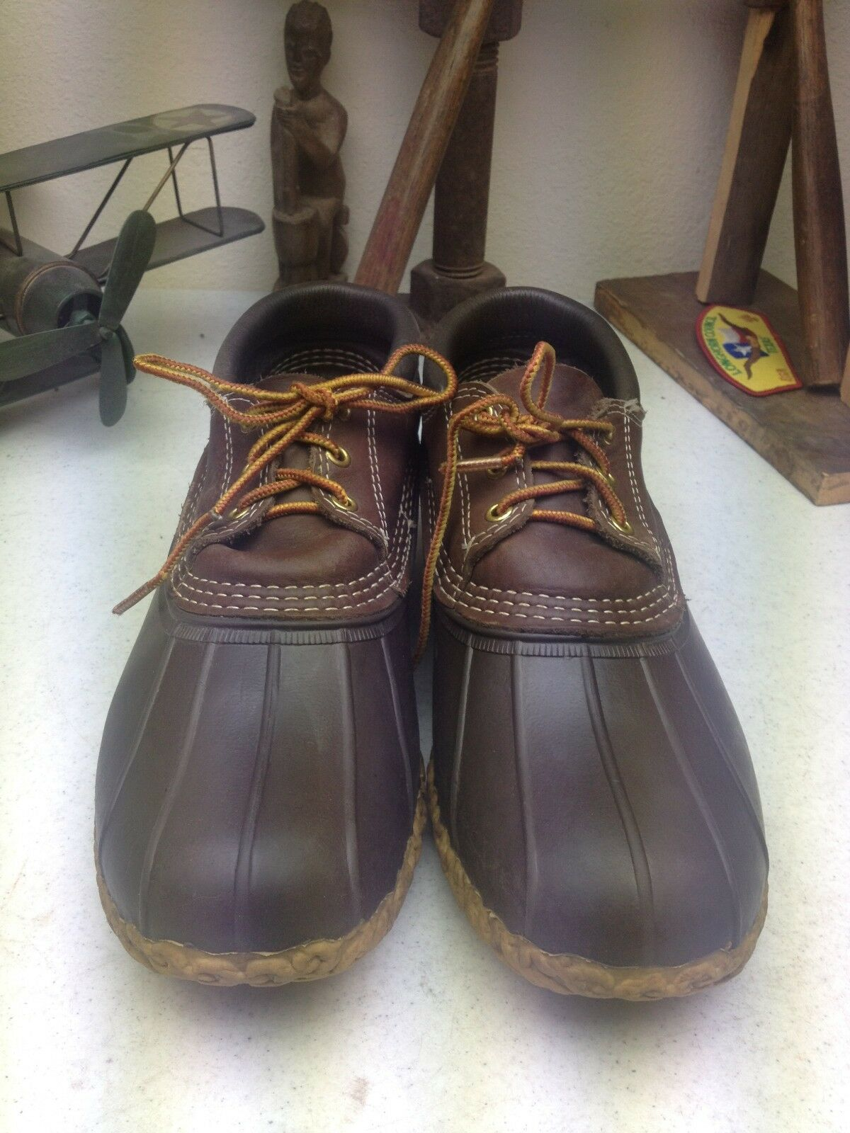 VINTAGE DISTRESSED MADE IN IN IN USA BEAN Stiefel DUCK HUNTING RAIN Stiefel 9.5-10.5 M 2f2c95