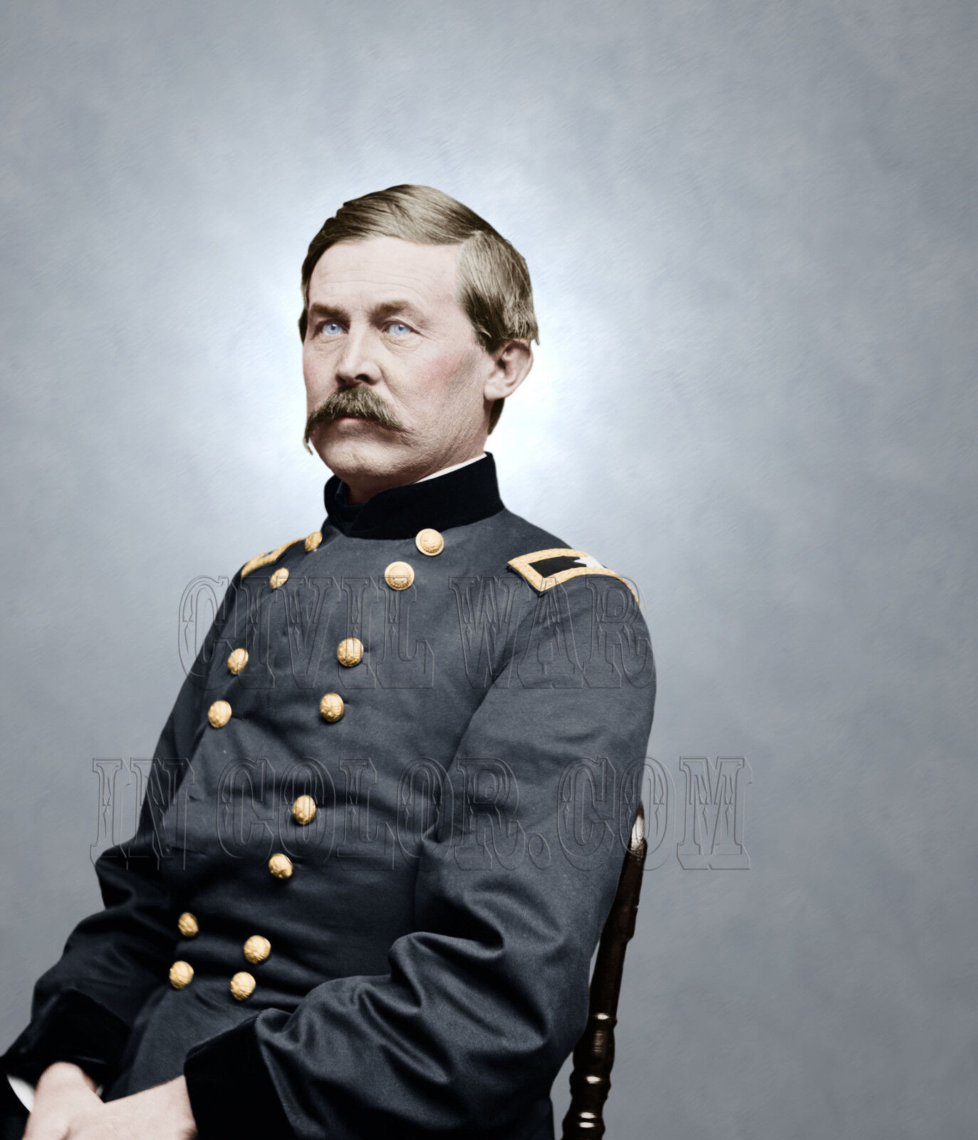 General John Buford Farbe Tinted Photo Civil War 06373
