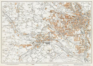 Map Of England Halifax.Details About Halifax West Yorkshire 1938 Old Vintage Map 36