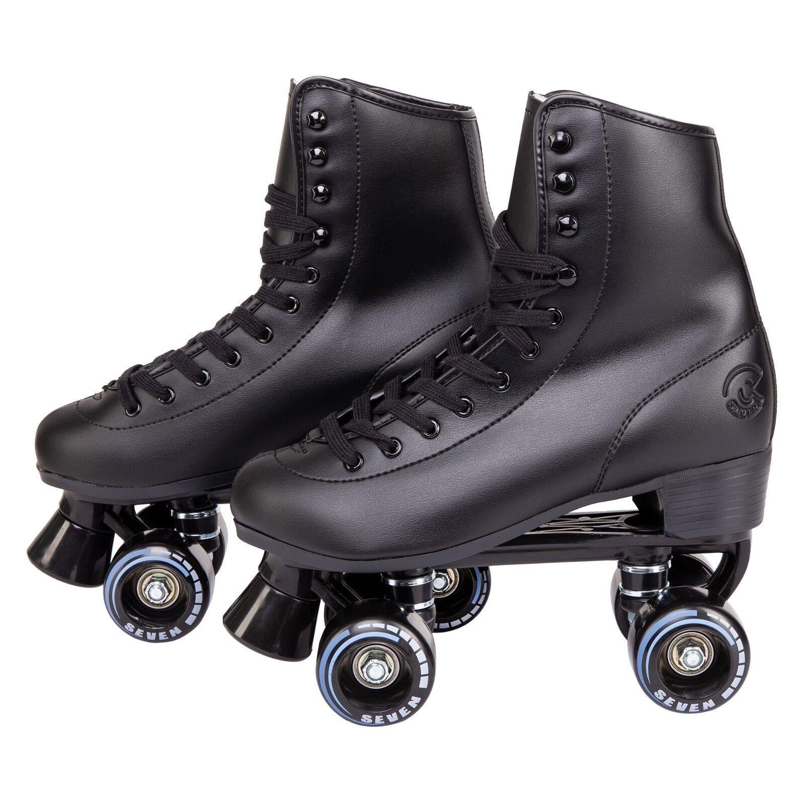 C7 Classic Roller Skates Retro Soft Faux Leder Rink Speedy Men Damens