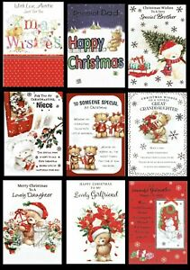 CUTE CHRISTMAS CARDS - SOMETHING FOR EVERYONE ~ Quality ~  ONLY 99p Each Card
