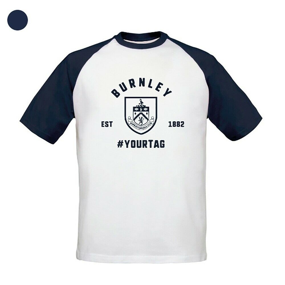 Burnley F.C - Personalised Mens T-Shirt (BASEBALL VINTAGE #)
