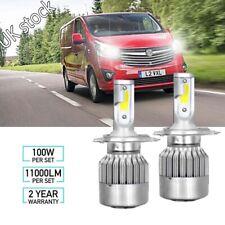 For Vauxhall Vivaro 2001-2014 Newest 4-Sided H4 LED Headlight Car Hi-Lo Bulbs