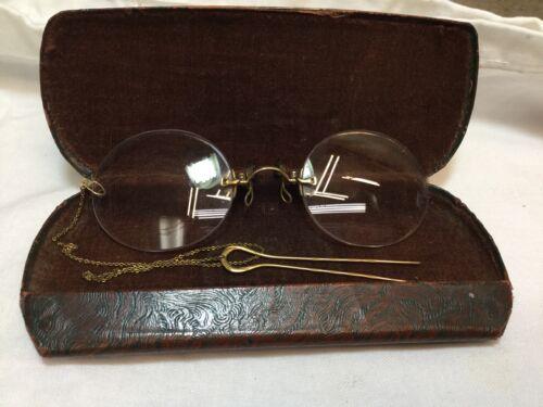 Antique Womans Specticals Glasses w/ Victorian Gol