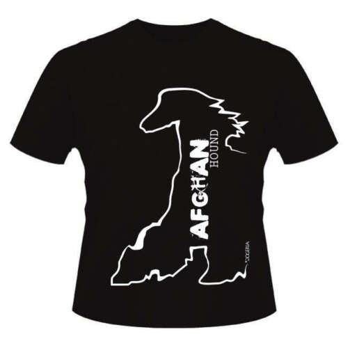 Afghan Hound Dog Breed T-Shirts Men/'s /& Ladies Round-Neck Style,Dogeria Design