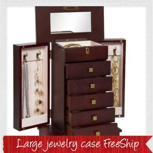 Women S Large Sized Jewelry Cabinet Box With Drawers Compartments