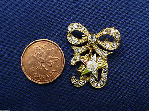 Eastern-Star-OES-30-years-of-service-pin-brooch-NEW
