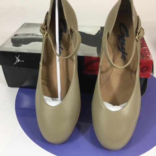 "Capezio 551 Lea Tan Dance Tap Character Shoes 1-1//2/"" Heel Jr Footlight Leather"