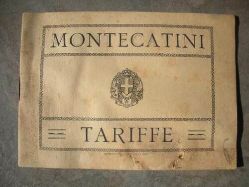 MONTECATINI TERME Catalog List Prices ORIGINAL 1930 Beam Littorio