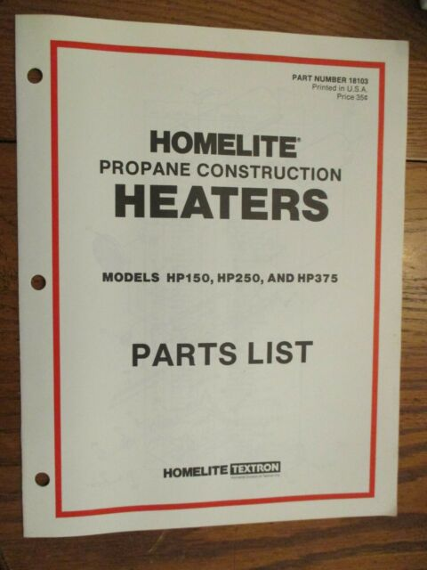 Used Homelite Propane Construction Heaters Hp150  250  375