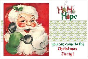 20-Vintage-Santa-Calls-Christmas-Party-INVITATIONS-Postcards