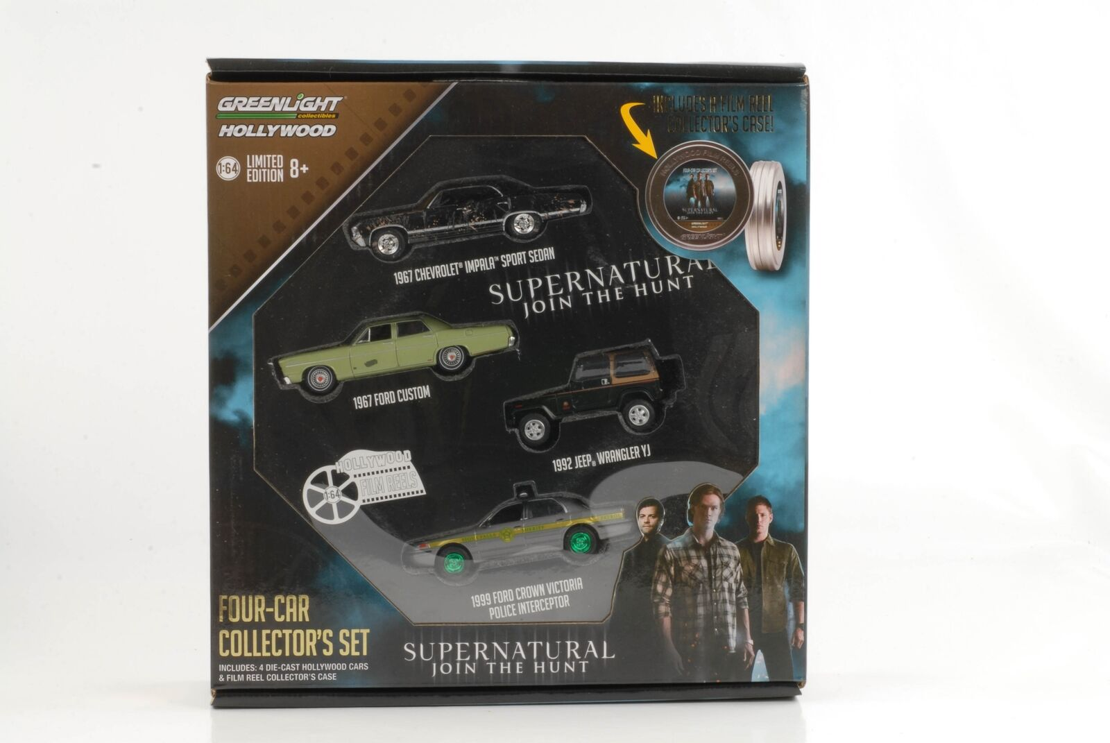 Movie Super Natural Join The Hunt Poison Bobine Set 4 car Incl .1 vert 1 64 Gree