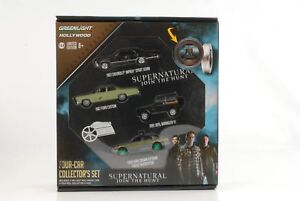 à Condition De Film Supernatural Jointure The Hunt Gift Rouleau De Set 4 Car Incl.1 Vert 1:64 Les Clients D'Abord