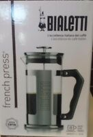 Bialetti 8 Cup French Press Coffee Maker Stainless Steel 1l Black Boiling Water