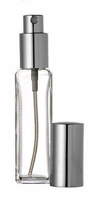 New Perfume/Cologne Atomizer, Empty Slim Glass Bottle, Silver Sprayer 30ml 1 oz
