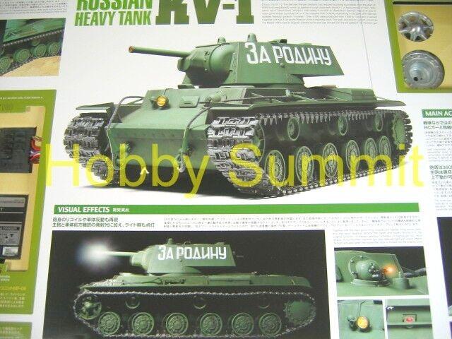 Tamiya 1  16 Ryska KV -1 Tung Tank R  C WWII Usammansatt modellllerlerl Kit
