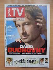 GAZETA TV front DAVID DUCHOVNY