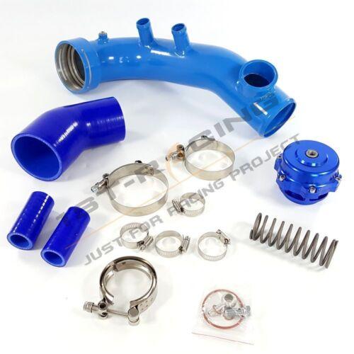Intake Turbo Pipe Cool Kit BLUE Q50 50mm BOV For BMW N54 E88 E90 E92 135i 335i