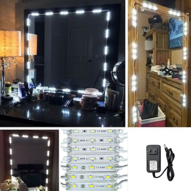20 LED Lights Strip Kit for Cosmetic Makeup Vanity Mirror Remote ...