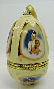Mr Christmas Musical Egg Ornament Trinket Valerie Parr Hill Cream