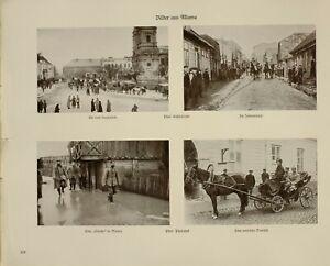 1916 Wwi Ww1 Imprimé Allemand Magazine Mlawa Juif Quart Vernis Roue Carosse Blanc De Jade