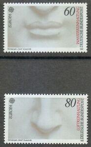 Germany-1986-MNH-Mi-1278-1279-Sc-1457-1458-Michelangelo-s-David-Europa