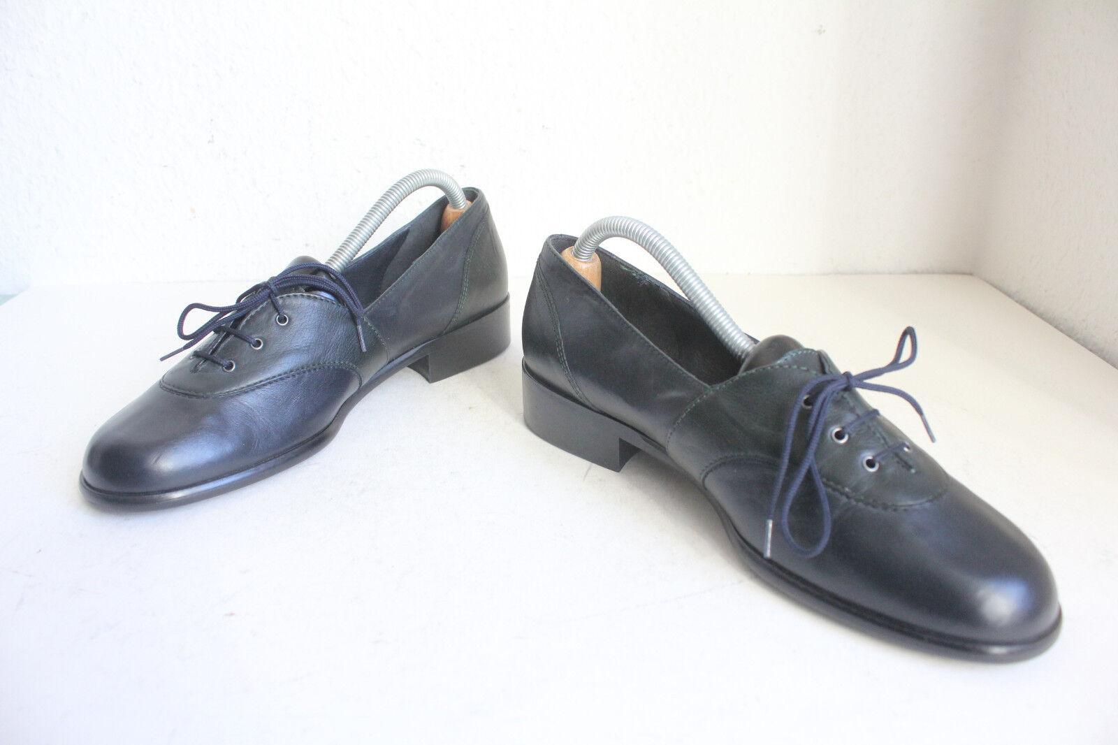 Vintage Zanon Zago Elegante Schuhe Echtleder Mehrfarbig Eu:39 made in  -TOP