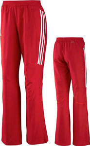 cd5ae28cfbbfc1 Das Bild wird geladen adidas-Damen-Sporthose-rot-Frauen-Trainingshose- Jogginghose-Gr-