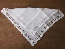 Vtg Antique Wedding Bride MOB MOG Hanky Handkerchief Excellent Drawn Pull Work
